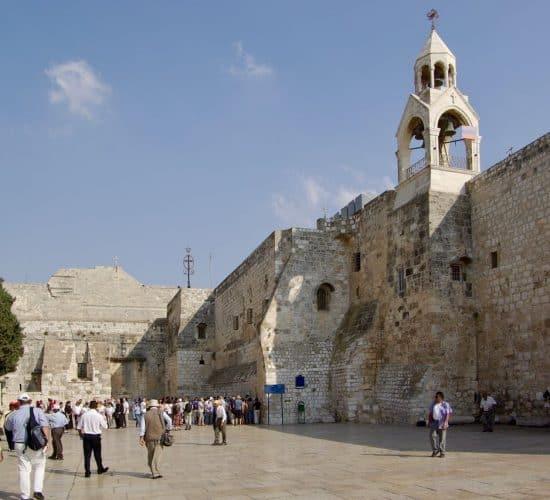 Bethlehem Church of Nativity pilgrims in Holy Land