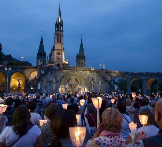 Lourdes pilgrimage tour Candlelight procession
