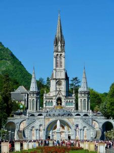Lourdes rosary basilica on pilgrimage