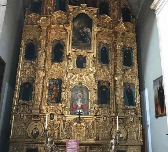 Mexico City Cathedral side altar