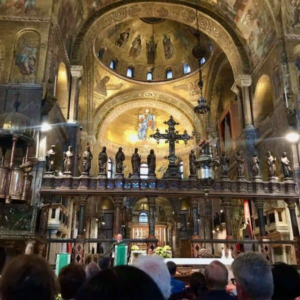 St Mark Basilica mass Venice tour