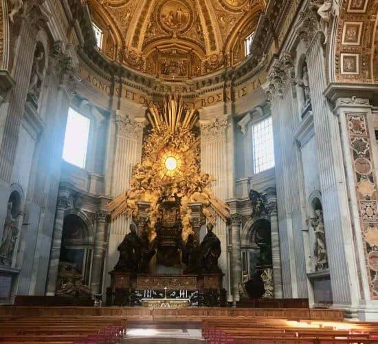 St Peters Basilica Altar 1 Rome tour
