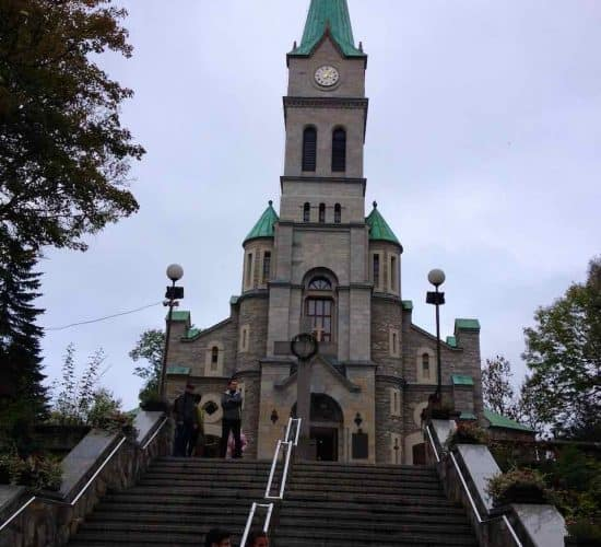 Zakopane town church Poland pilgrimage