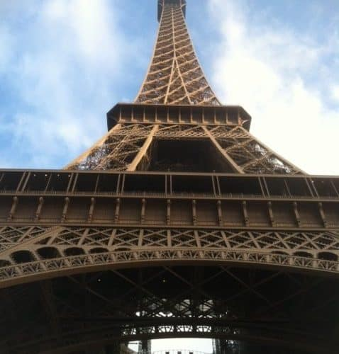 eiffel tower up close