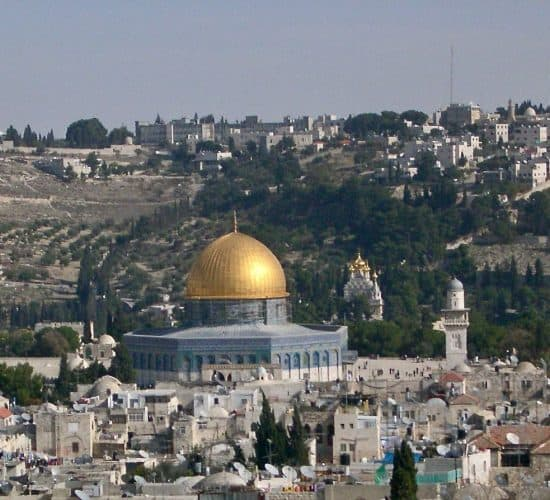 Dome of the rock jerusalem in Holy Land